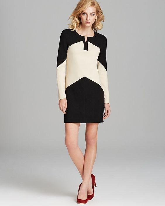 $365, Dress Sheridan Color Block by Diane von Furstenberg. Sold by Bloomingdale's. Click for more info: http://lookastic.com/women/shop_items/18430/redirect