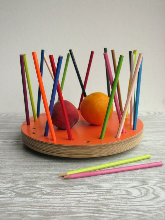 Pencil Tidy Fruit Bowl - NEW Tangerine Edition