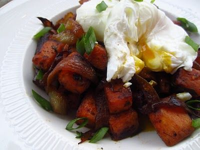Sweet Potato Hash with Apple Cider Caramelized Onions