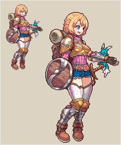 Warrior girl - pixelart