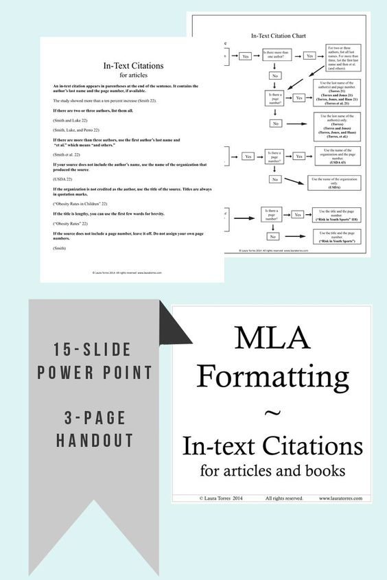 Mla Format In Text Citations Flow Chart Rules And Power Point Flow Chart Powerpoint Heart Healthy Dinners