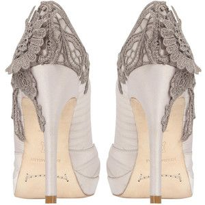 Lace embroidered peep style=