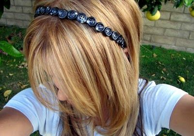 button headband #hair #button #headband