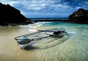 a clear kayak to study marine biology, or, how to ride the waves like Wonder Woman