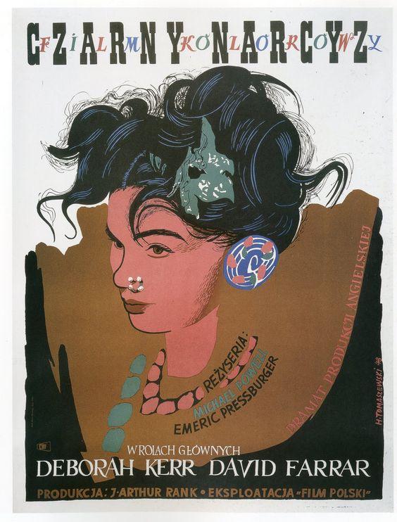 Black Narcissus [Czarny Narcyz] - 1946 (Polish, art by Henryk Tomaszewski)