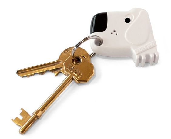 Fetch My Keys by Suck UK: Whistle within hearing range and the dog beeps while its nose flashes. Find it here http://tinyurl.com/3paaox7  $15.99.