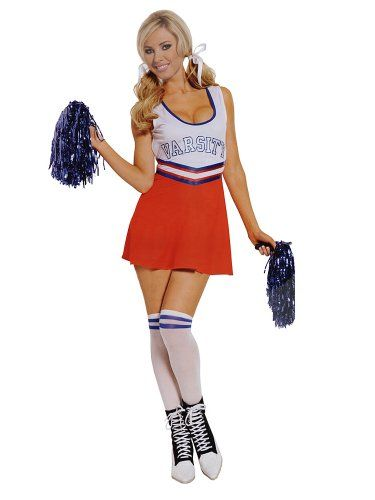 Sexy Cheerleader Costume Great Couples Costume Idea Atheletic Sports Costume