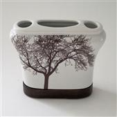 TREE TOOTHBRUSH HOLDER BROWN