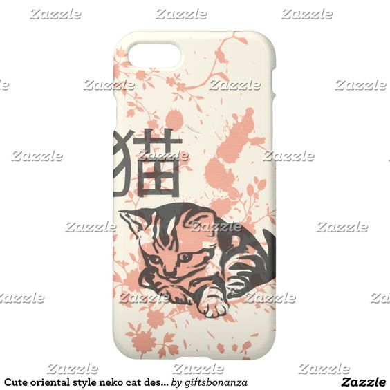Cute oriental style neko cat design iPhone 7 case
