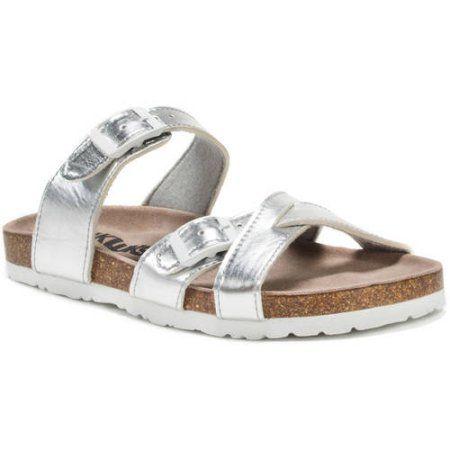 MUK Luks Women's DeeDee Sandals, Size: Silver