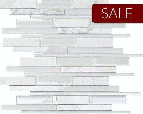 Glass Stone Mosaic Elegant Carrara Mosaic Sale Price 9 87 Per Square Foot Stone Mosaic Glass Mosaic Tiles Mosaic