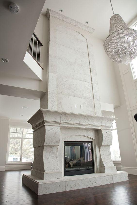 Master bedroom fireplace inspiration.