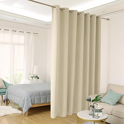 Deconovo Room Divider Grommet Top Curtain 1 Panel Home Decor First In 2020 Patio Door Curtains Room Divider Curtain Thermal Curtains
