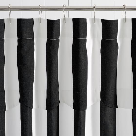 The Emily Meritt Awning Stripe Shower Curtain Striped Shower