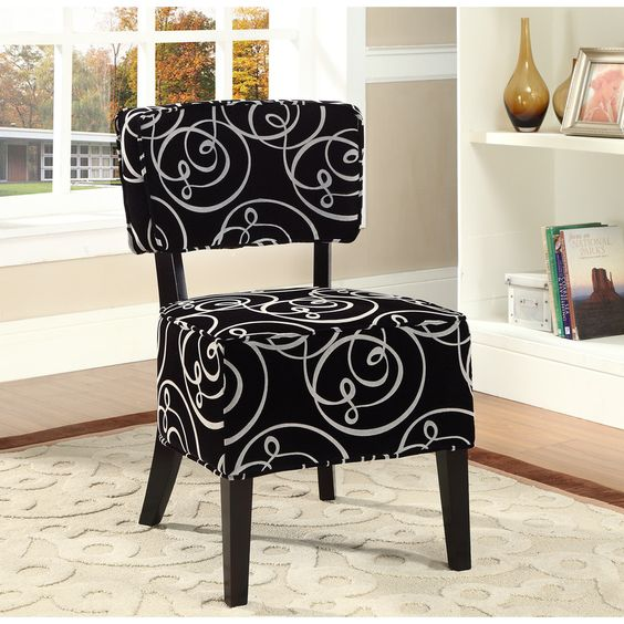 ROSEDALE ACCENT CHAIR BLACK WHITe for my makeup vanity  Rosedale accent  chair black white Chairs. Makeup Vanity Canada
