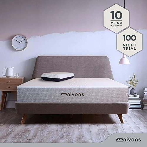 New Nivons Novi 11 Full Gel Infused Memory Foam Mattress Box Integrated Tencel Powder Into Cellpur Foam Oeko Tex 100 Certified 100 Night Home Trial 10 Yea In 2020 Memory Foam Mattress Foam Mattress Mattress
