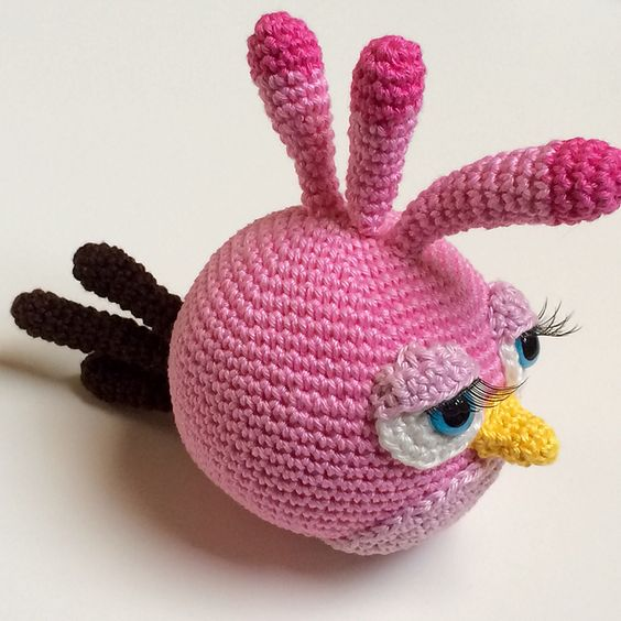 Amigurumi Angry Birds Rojo Patron : Ravelry: Stella, the Angry Bird pattern by Mandy Bruning ...
