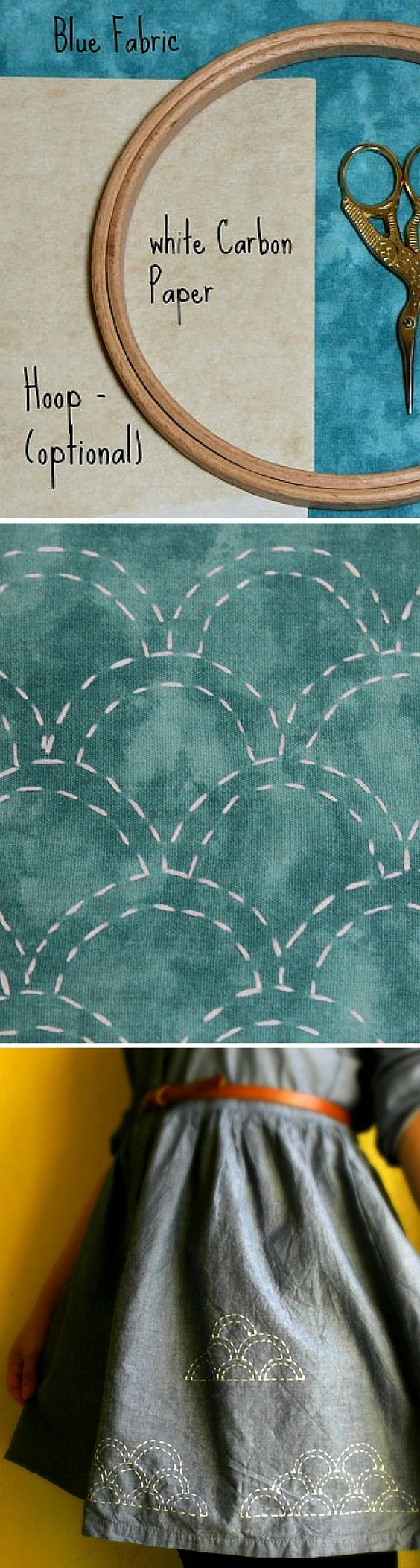 Learn Simple Sashiko Hand Stitching With This Whimsical Cloud Pattern