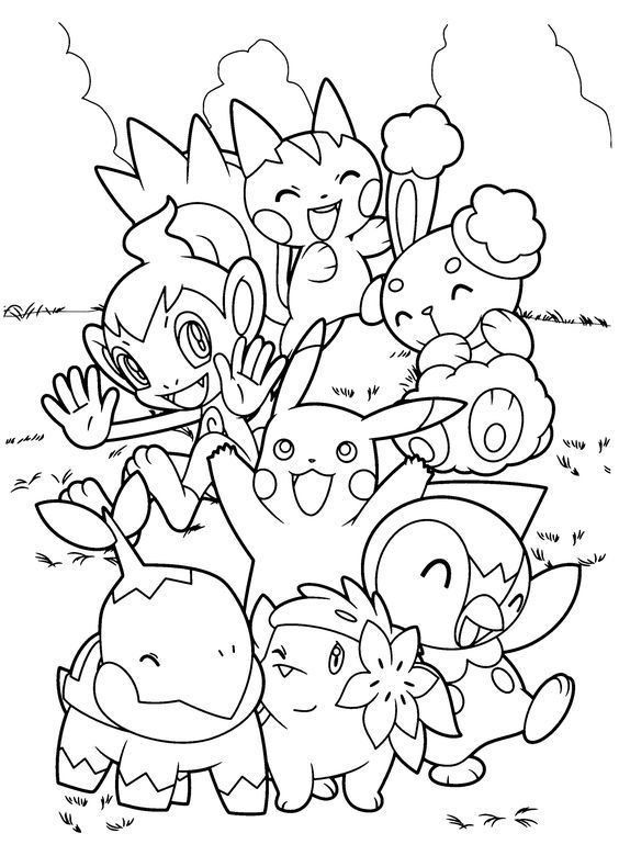 pokemon coloring pages pikachu and