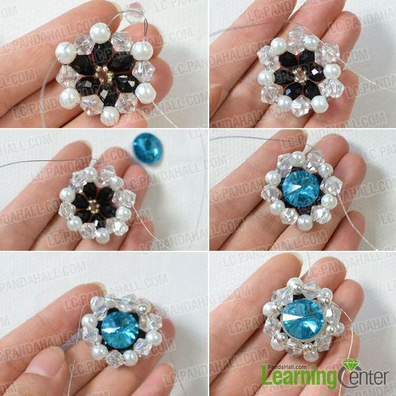 añadir perlas de perlas y perlas de vidrio