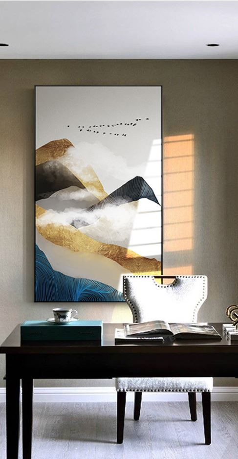 Nordic Golden Mountain Abstract Wall Art Hd Beautiful Wall Arts