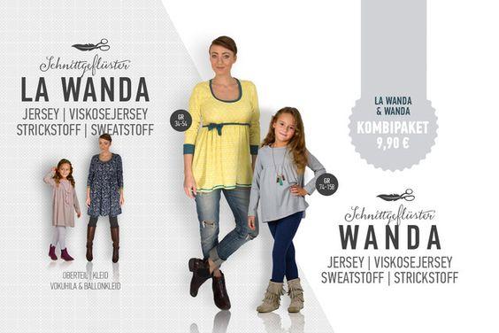 LA WANDA und Wanda sind schlichte Babydolloberteile oder Kleidchen. Wenn du beim Kleid unten nicht versäumst sondern mit Bündchen arbeitest, kannst du ein Ballonkleid zaubern.  Dieses...