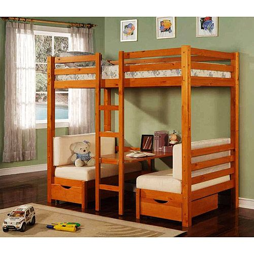 kids loft beds walmart table convertible bunk bed maple kids 39 teen rooms. Black Bedroom Furniture Sets. Home Design Ideas