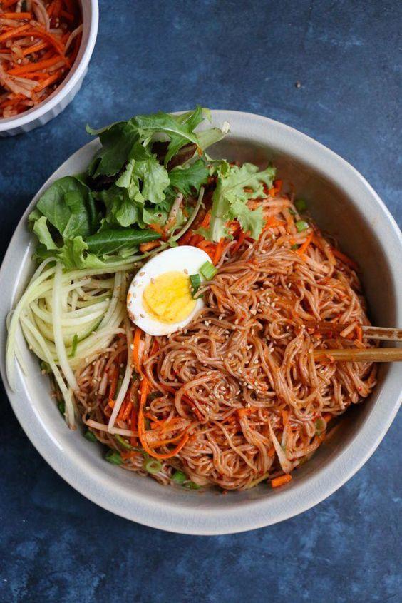 Spicy Korean Cold Noodle Salad