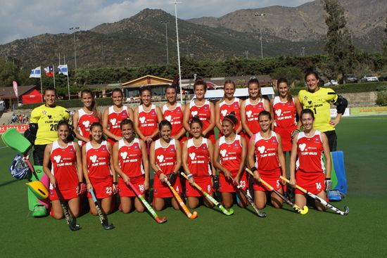Chile en Sudamericano Femenino 2013. http://www.panamhockey.org/