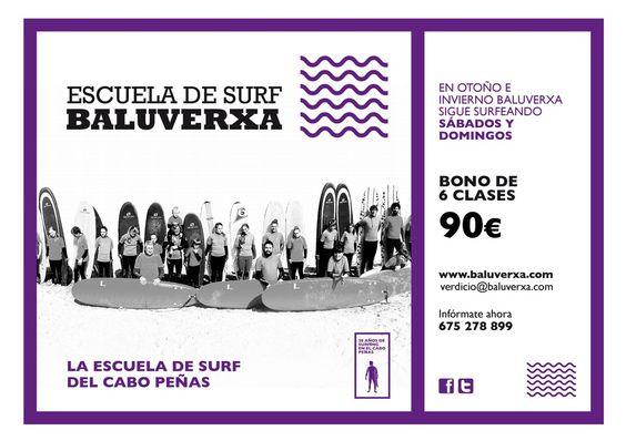 Nuevo Bono Otoño-Invierno para seguir surfeando con Baluverxa , la Escuela del Cabo Peñas