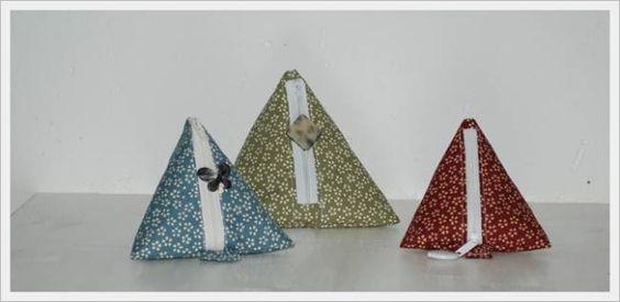 Tutorial monedero triangular telas y patchwork bolsos - Manualidades patchwork bolsos ...