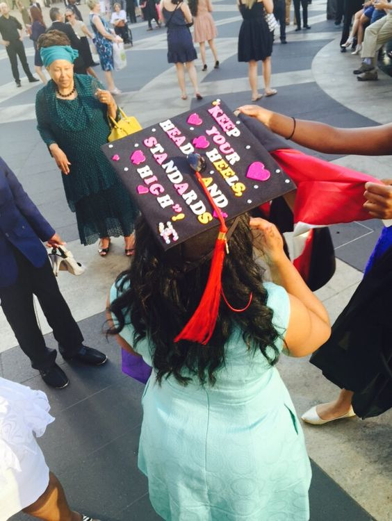 graduated decorated caps