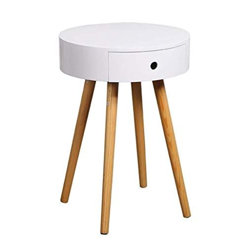 Runwei Bedside Table Small Round Table Coffee Table Sofa Side Simple Side Cabinet Corner Simple Bedside Tables Small Bedside Table Minimalist Coffee Table Wood