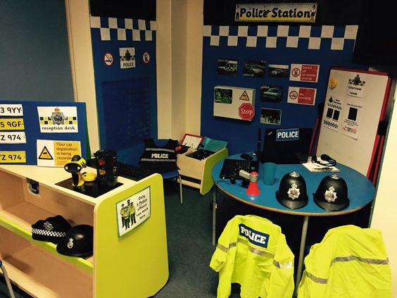 Wonderful police station role play area.