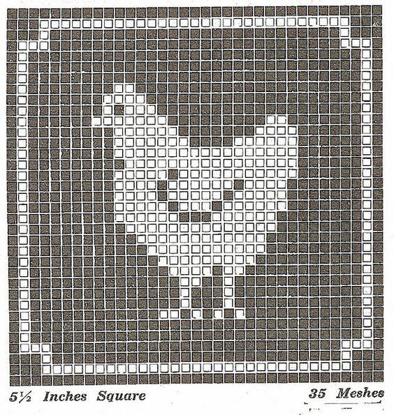 sentimental baby  filet crochet or cross stitch animal