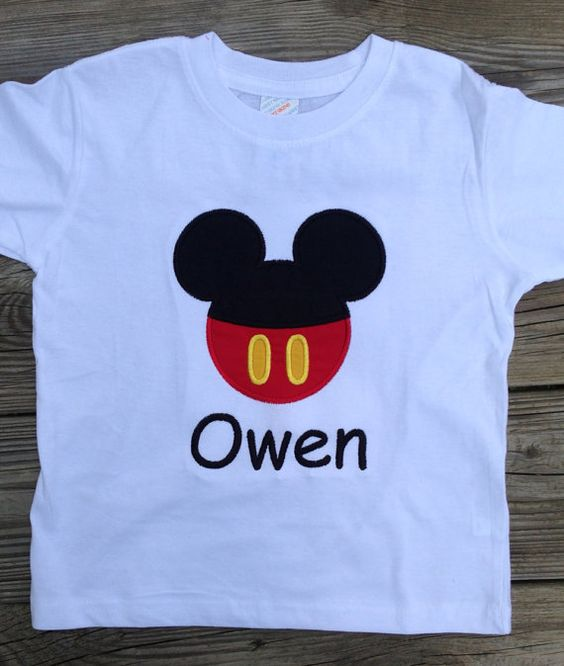 Mickey Mouse Applique Personalized Shirt Or By