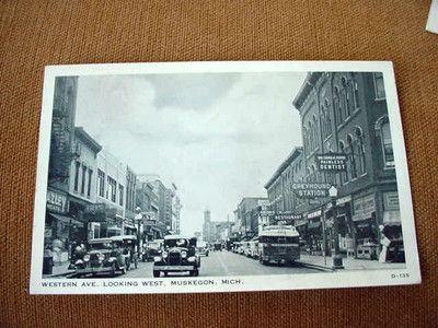 Downtown Muskegon MI circa 1930s