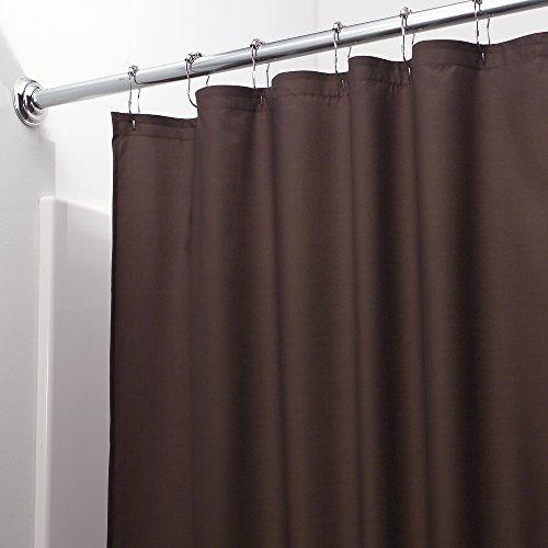 mDesign WaterRepellent and MildewResistant Fabric Shower Curtain ...