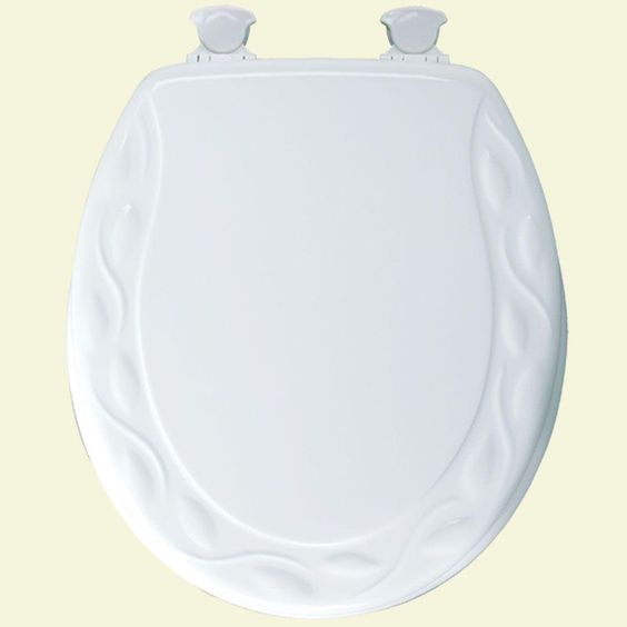 BEMIS Sculptured Ivy Round Closed Front Toilet Seat in White