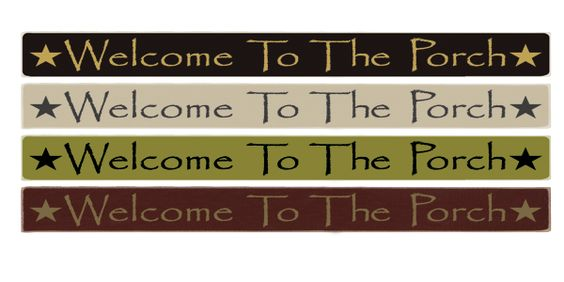 Country Marketplace -  Welcome To The Porch  Wood Sign 36 inch, $24.99 (http://www.countrymarketplaces.com/welcome-to-the-porch-wood-sign-36-inch/) #LakeOrOcean