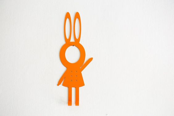 Metal Wall Hook: Girl Rabbit