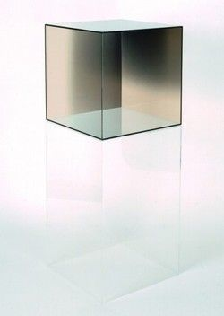 Larry Bell In the 1960s, Bell began making some of his most recognisable works: Cube structures that sit on transparent plinths. Three of these works were featured in the influential 1966 minimalist exhibition Primary Structures. The relationship between the plinth and a sculpture emphasizes the plinth's sculptural presence.