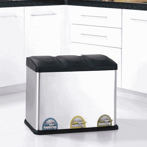 Un basurero de reciclaje de diseño para tu departamento