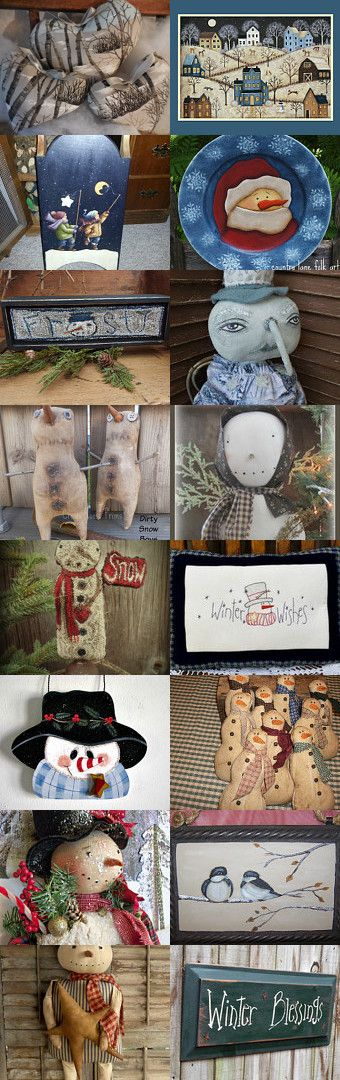 Let it Snow, Let it Snow, Let it Snow ! Hafair Team by Karen Johnson on Etsy--Pinned with TreasuryPin.com