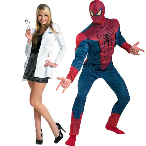 Halloween costume idea Gwen and Spiderman