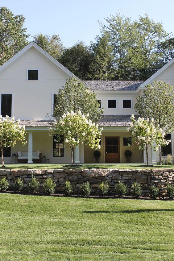 Modern farmhouse/Michigan/stacked stone wall/exterior/hello lovely studio: modern farmhouse inspiration (scheduled via http://www.tailwindapp.com?utm_source=pinterest&utm_medium=twpin&utm_content=post151603803&utm_campaign=scheduler_attribution)