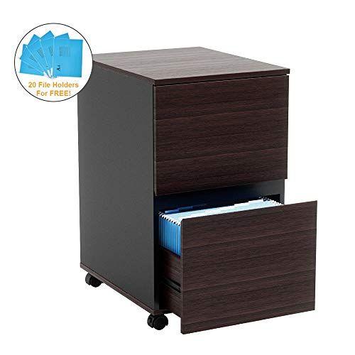 Bestier Wooden File Cabinet 2 Drawer Bestier Filing Cabinet Desk With Drawers Wood Storage Cabinets Two drawer wooden file cabinet