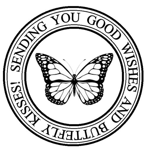 Stamp- Sending you good wishes & Butterfly Kisses- click on image here - save