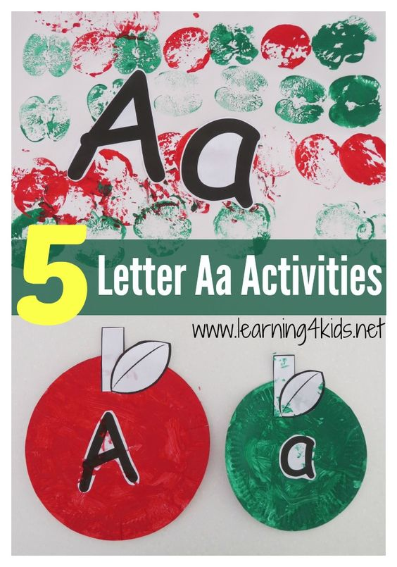 alphabet activities learning the letter a