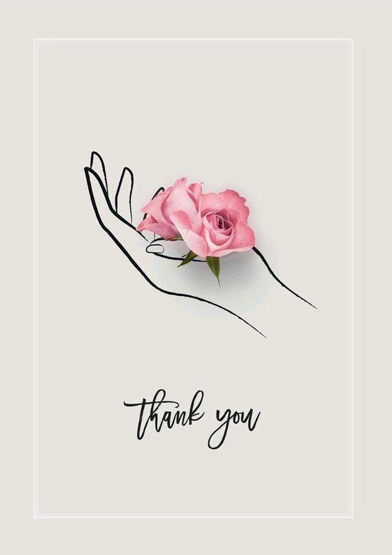 Je dessine des roses sans épines pour vous remercier